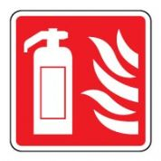 Fire safety sign - Fire Ext/Flames 004